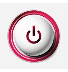 Color power button vector image vector image