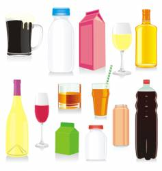 drink containers vector image vector image