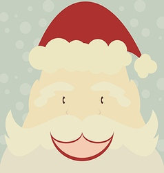 Happy Santa Claus with snow background vector image vector image
