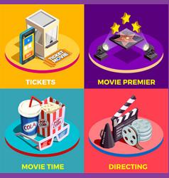 Movie time design concept vector