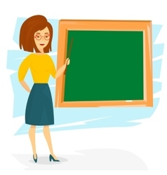 School teacher teaching with a pointer vector image