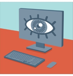 Spying on users vector image