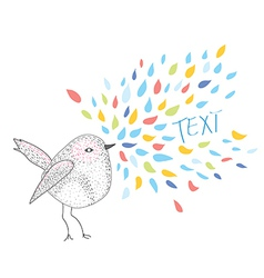 Bird card with frame for the text vector image vector image