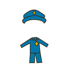 colorful caricature cop costume profession vector image vector image