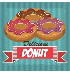 Delicious and sweet donut isolated icon design vector