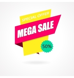 Sale Sign Banner Poster ready for Web and Print vector image vector image