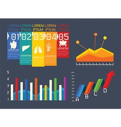 Set elements of infographic vector image vector image