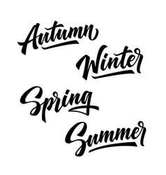 4 seasons year winter spring summer autumn vector image