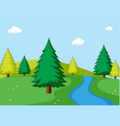 a simple nature scene vector image