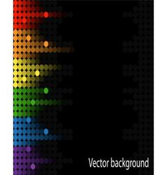 abstract music volume equalizer on black vector image
