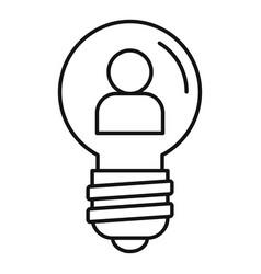 Admin idea bulb icon outline style vector