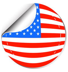 America flag in sticker design vector
