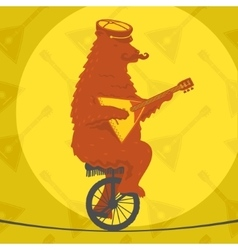 Bear riding a motorcycle vector image