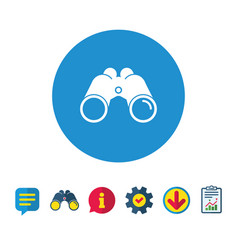 binoculars icon find software sign symbol vector image