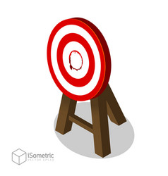 Breakthrough target goal flat isometric style vector