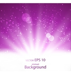bright beam of light in an abstract background vector image