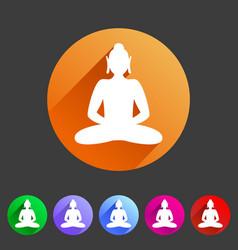 buddha statue buddhism icon flat web sign symbol vector image
