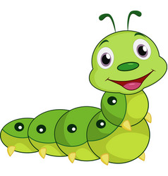 cartoon happy caterpillar vector image
