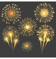 celebratory gold firework salute burst vector image