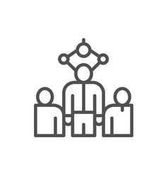 choosing best employee for job recruitment people vector image