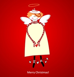 Christmas card angel happiness vector