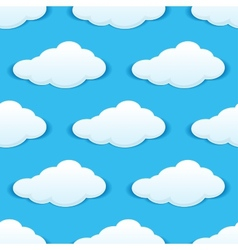 Cloudy sky seamless pattern vector