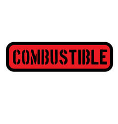 Combustible sign label vector