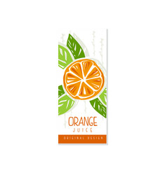 creative hand drawn card or label with orange and vector image