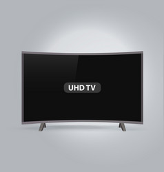 curved smart led uhd tv series isolated on gray vector image