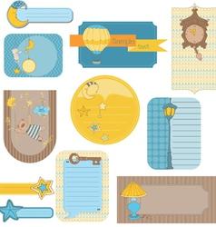 Design elements for bascrapbook - sweet dreams vector