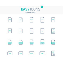 easy icons 15e papers vector image