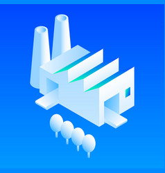 eco factory icon isometric style vector image