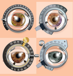 Eye test concept correction device clinic vector
