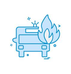 fire truck icon design vector image