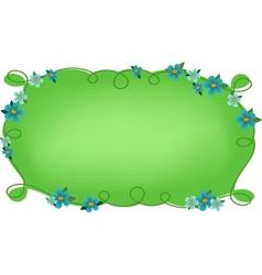 Floral frame or vignette vector image