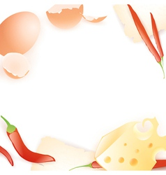 food template vector image vector image