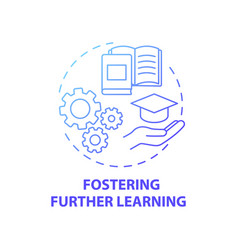 Fostering further learning concept icon vector