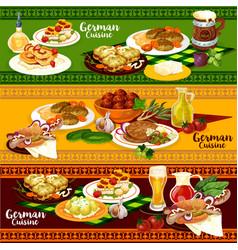 german cuisine restaurant banner for oktoberfest vector image