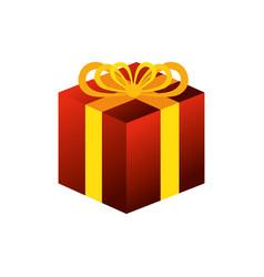 Giftbox present celebration icon vector
