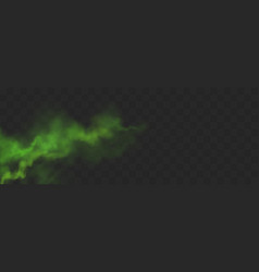 Green smog stream bad smell or toxic vapour vector