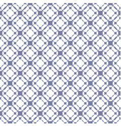 grid seamless pattern geometric texture in white vector image
