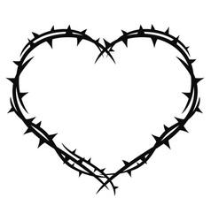 Heart in thorns vector