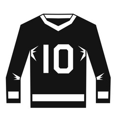 Hockey jersey icon simple style vector