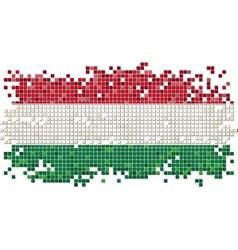 Hungarian grunge tile flag vector