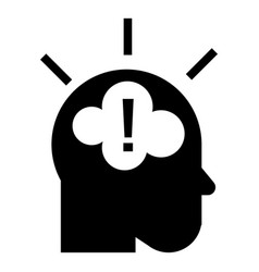 idea brainstorming icon simple style vector image