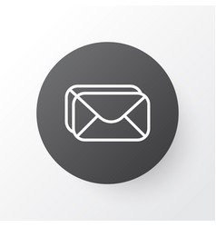 Inbox icon symbol premium quality isolated vector