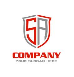 Initial letter sa logo design vector