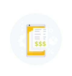 invoice app mobile payments icon vector image