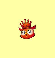 king owl mascot logo vector image