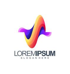 letter s wave logo design vector image